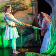 Rapunzel in het openluchttheater in Amsterdam