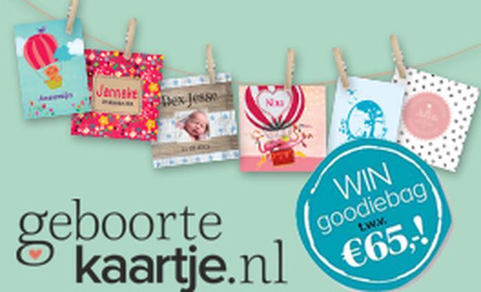 win goodiebag Geboortekaartje.nl