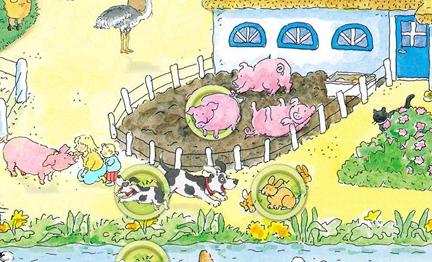 Bas op de kinderboerderij