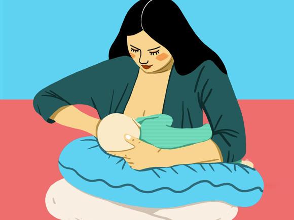 houding borstvoeding