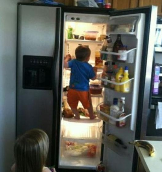 kind koelkast