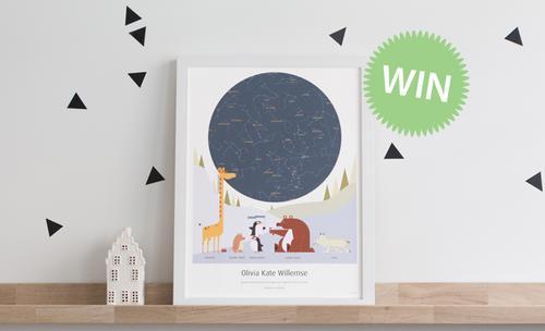 Win MrStarsky poster met sterrenhemel