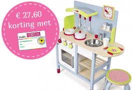 Houten-speelkeuken