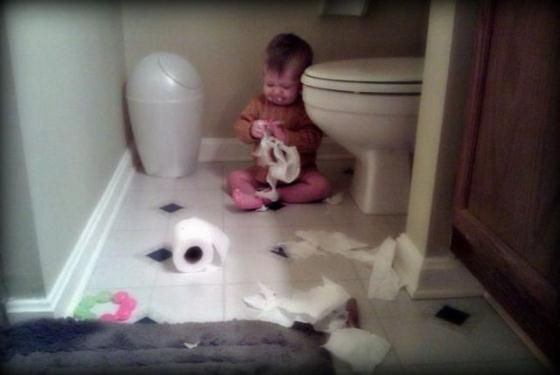 kind wc papier