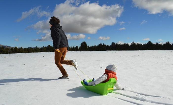 Partir au ski avec un enfant: et la valise?