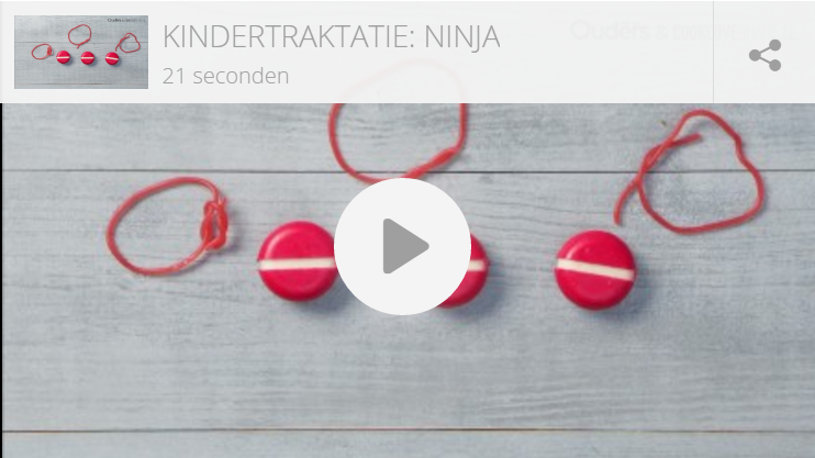 Kindertraktatie: Ninja warrior