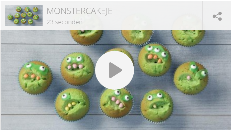Kindertraktatie: monster cupcakes
