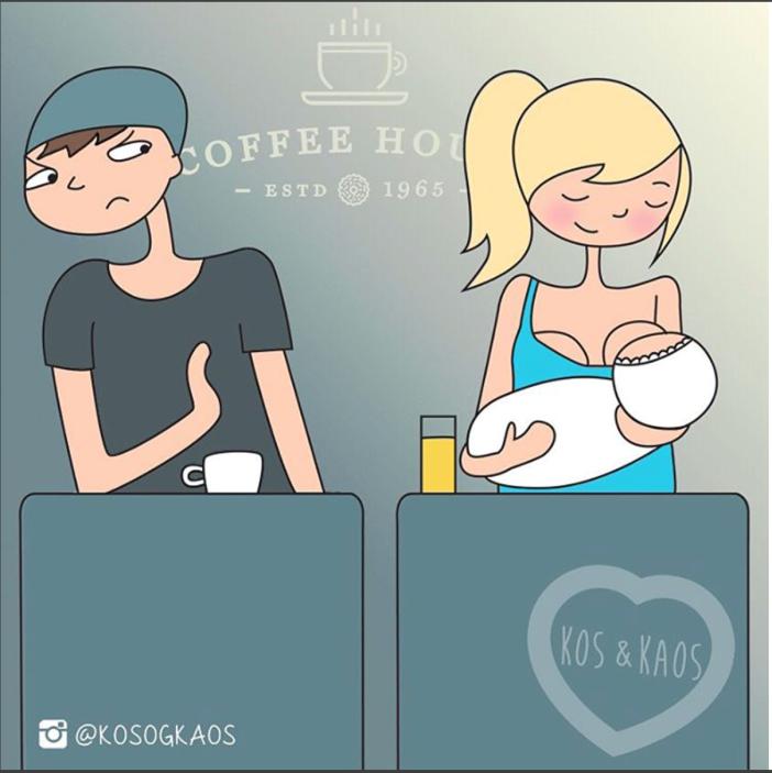 Cartoon: de tijd na de bevalling