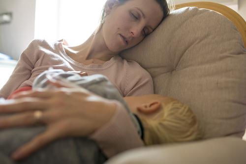 sleeping-mum