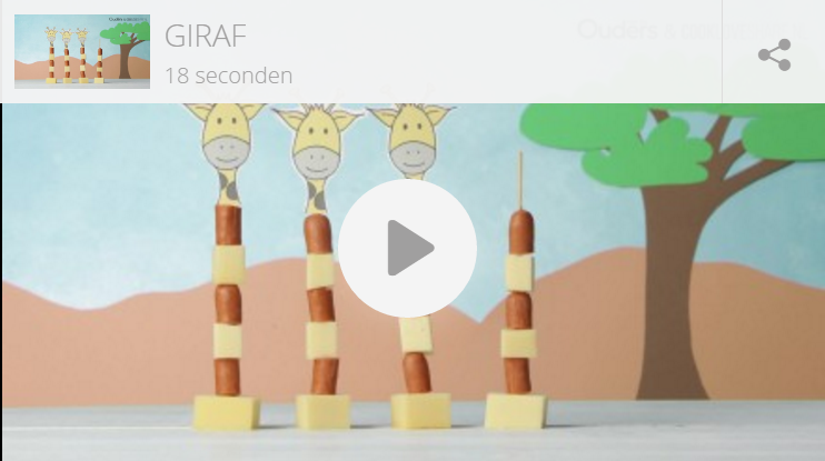 Kindertraktatie: party giraffen