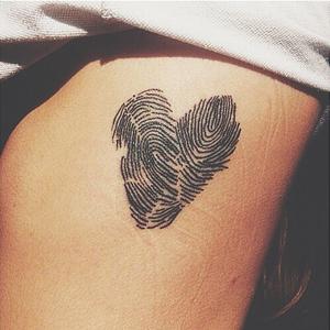 Tattoo vingerafdruk