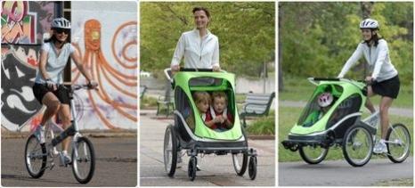 Zigo is een fietskar en kinderwagen in 1