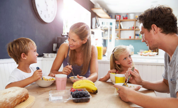 ontbijt gezin