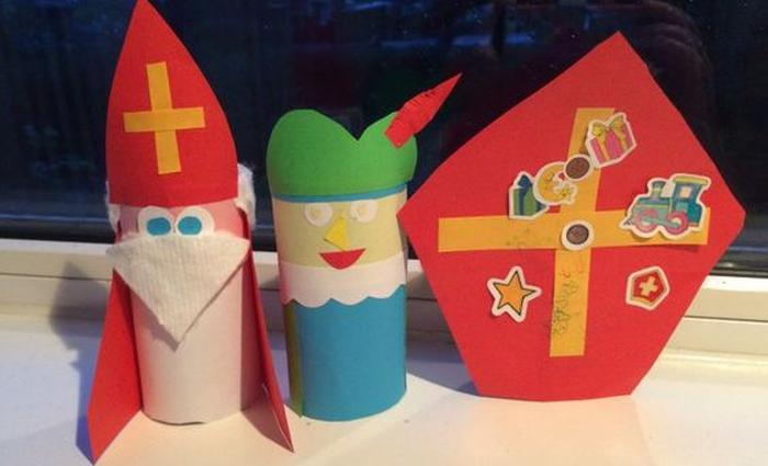 Sinterklaas knutselen poppetjes