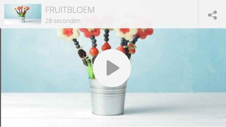 Kindertraktatie: fruitbloemen in tuintje