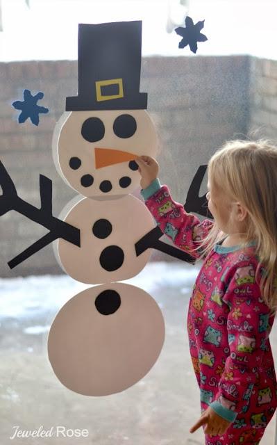 sneeuwman-raam