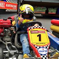 Racen bij Coronel Karting in Huizen