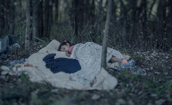 Fotoserie: slapende vluchtelingkinderen