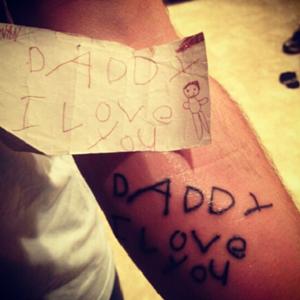 Tattoo handschrift kind