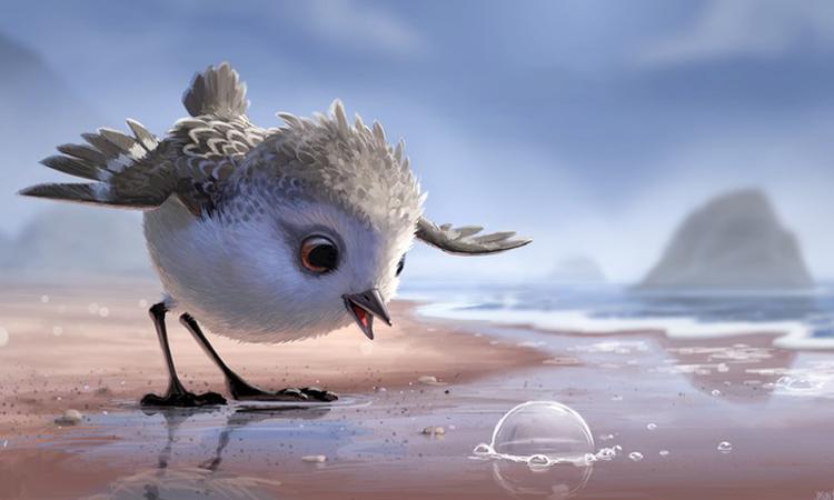 Pixar deelt korte film over een té schattig vogeltje