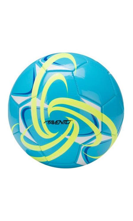 Avento Voetbal Glossy - Fluor - Azuurblauw/Fluorgeel - Maat 5