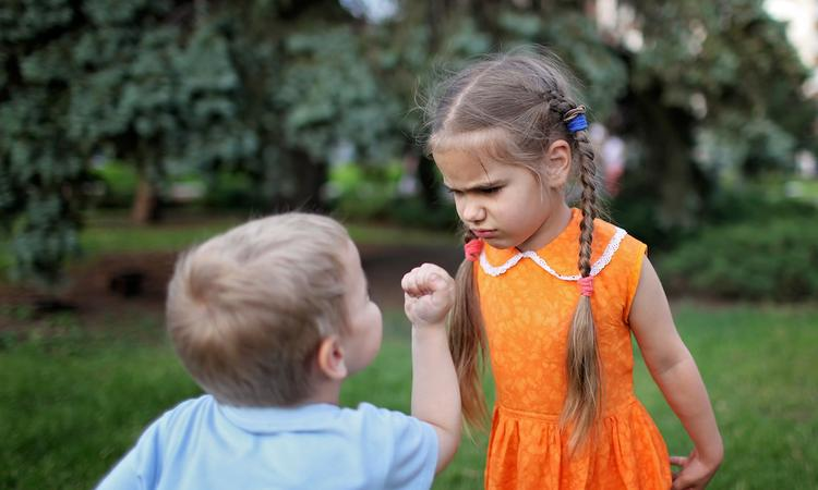 Stomme dingen kinderen ruzie maken
