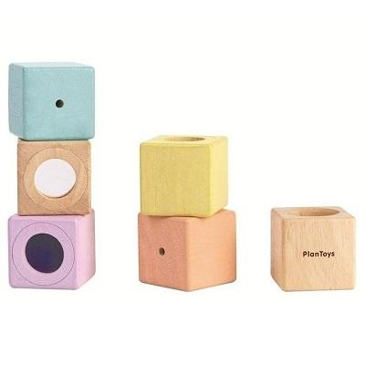plan toys zintuigelijke blokken sensory blocks