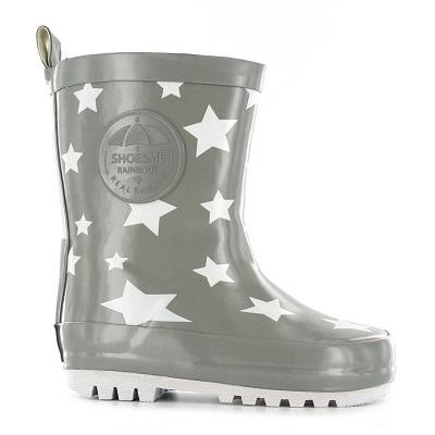 Regen items Shoesme regenlaarzen sterren grijs