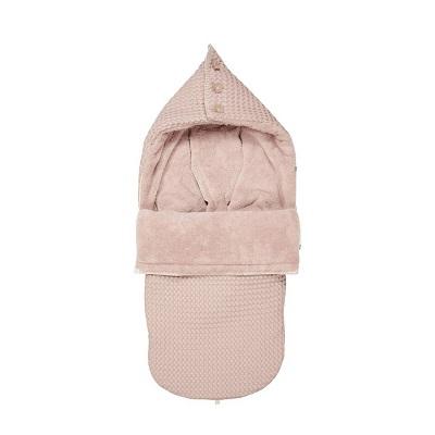 koeka oslo buggy voetenzak grey pink oudroze
