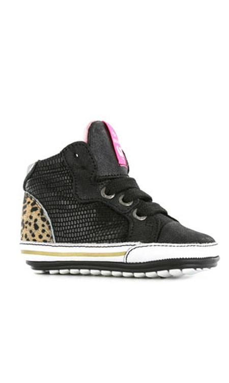 Shoesme Baby Proof Smart leren babyschoenen zwart/panterprint
