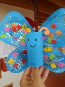knutselen vlinder