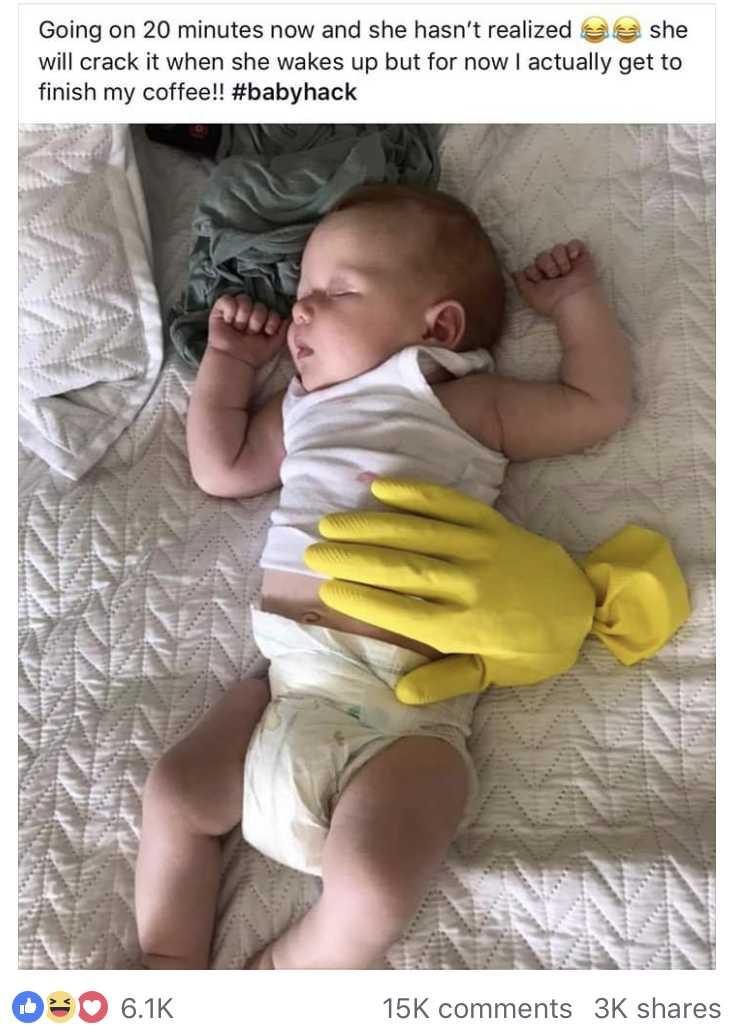 hack aanhankelijke baby doorslapen