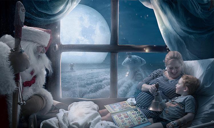 Zieke kinderen krijgen magische kerstportretten