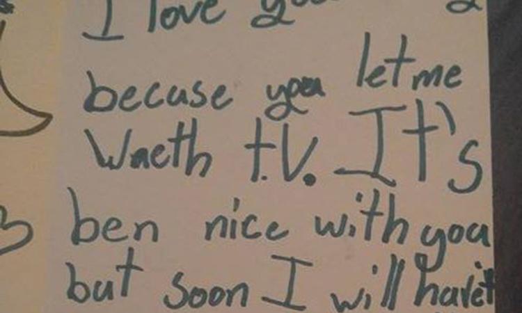 Meisje (7) schrijft hilarisch 'afscheidsbriefje' aan moeder