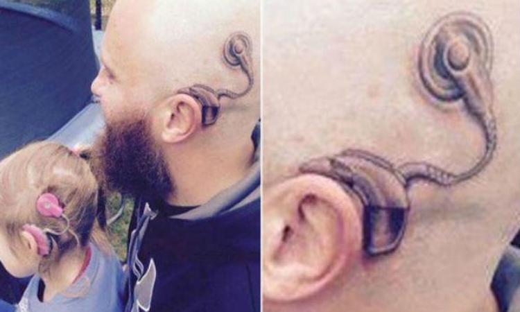 Lief: vader zet tattoo voor zijn dove dochtertje