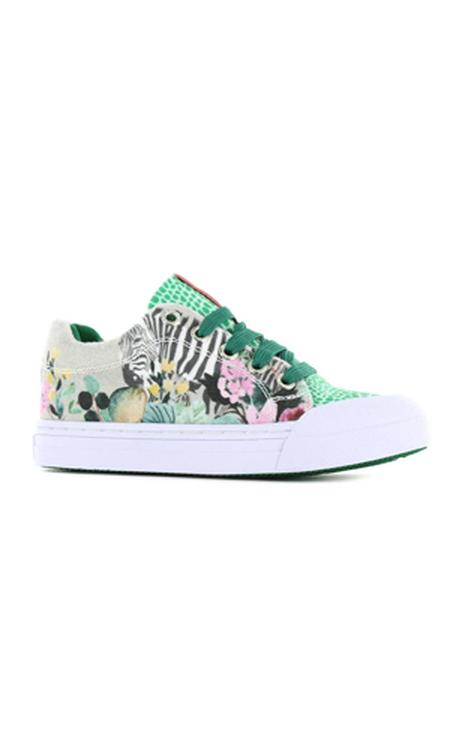 Go Banana's Zebra sneakers groen/multi