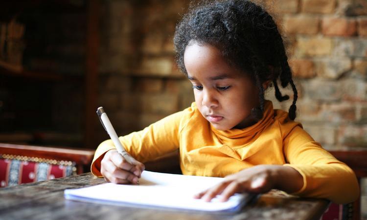 kinderen schrijven