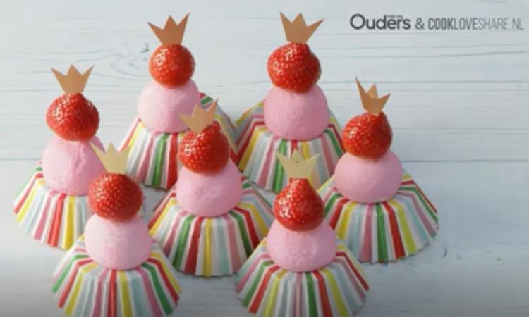 Kindertraktatie: ballerina cupcakes
