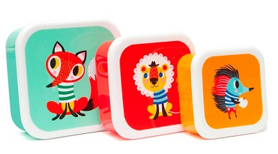 petit monkey lunchbox set van 3 multi
