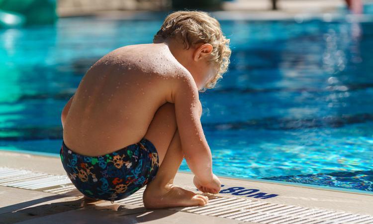 Watervrees en zwemles