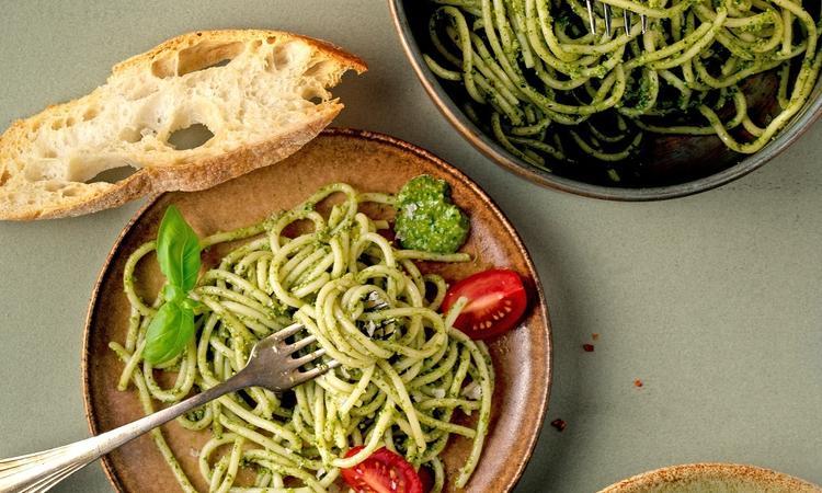 Pasta spinaziepesto The Green Chopstick
