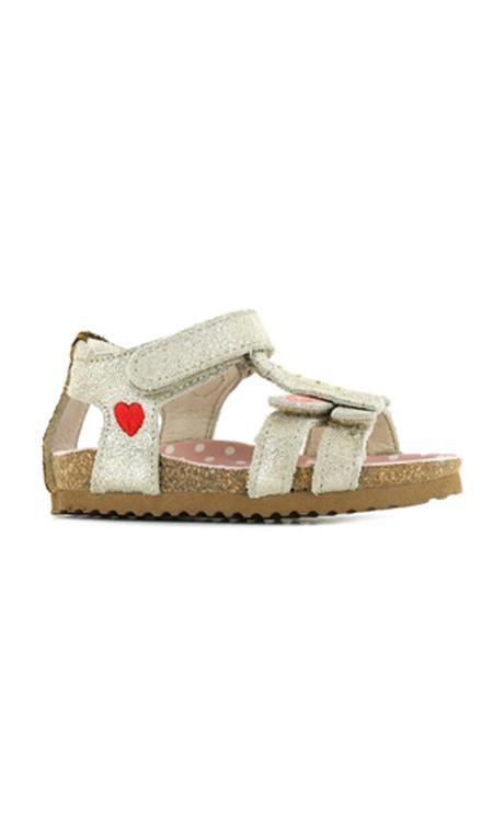 Shoesme BI21S092-B leren sandalen goud