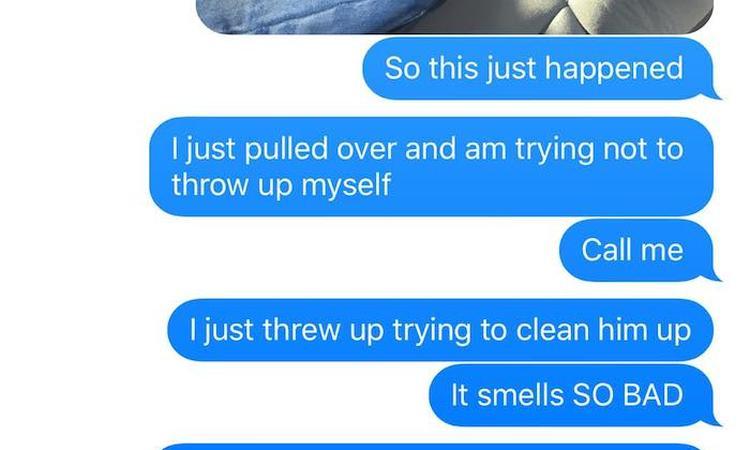 Vader stuurt reeks hilarische sms'jes naar vrouw over ongelukje zoon