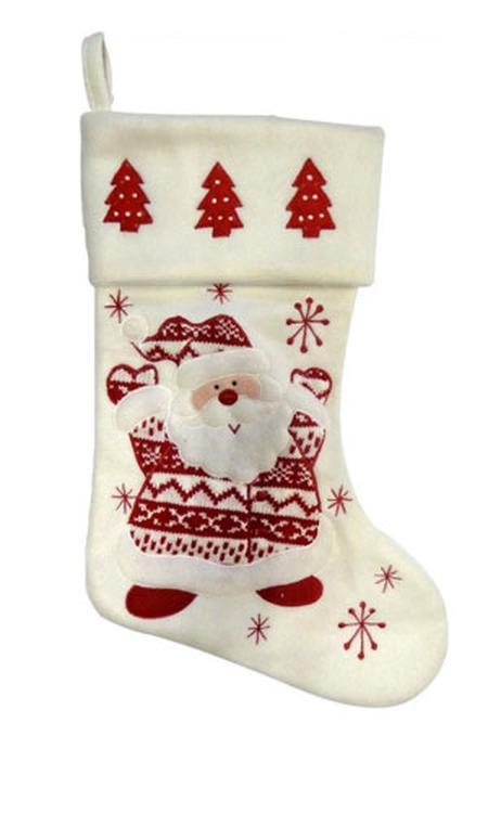 Peha Kerstsok Kerstman 46 Cm Fleece Rood/wit