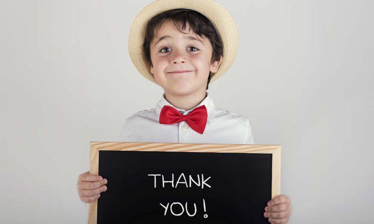 dankbaar kind