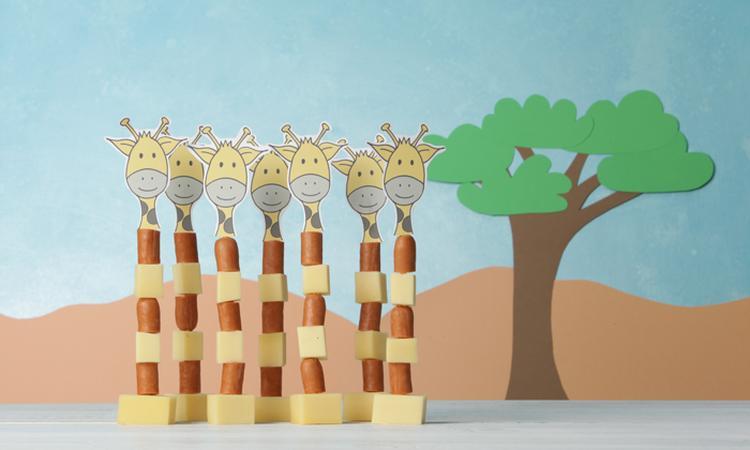 Kindertraktatie: party giraffen