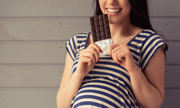 chocolade zwangerschap