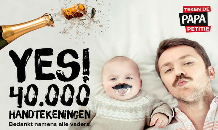 40.000 handtekeningen voor papa-petitie