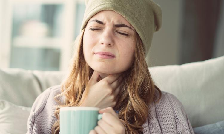 Zwanger en keelpijn
