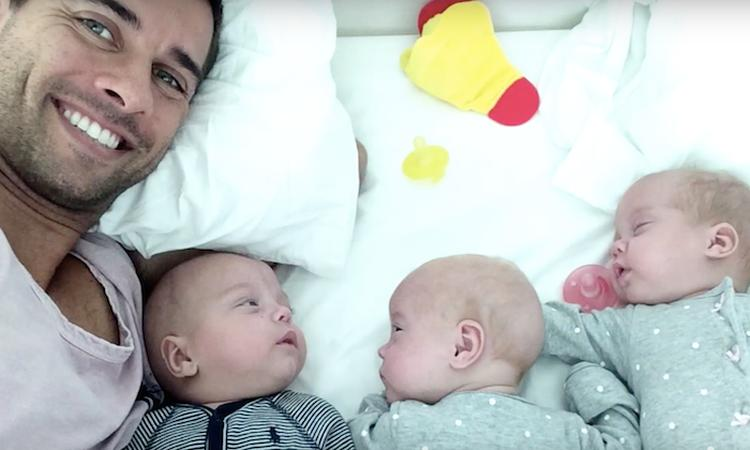 Prachtig verhaal: single man wordt vader van drieling